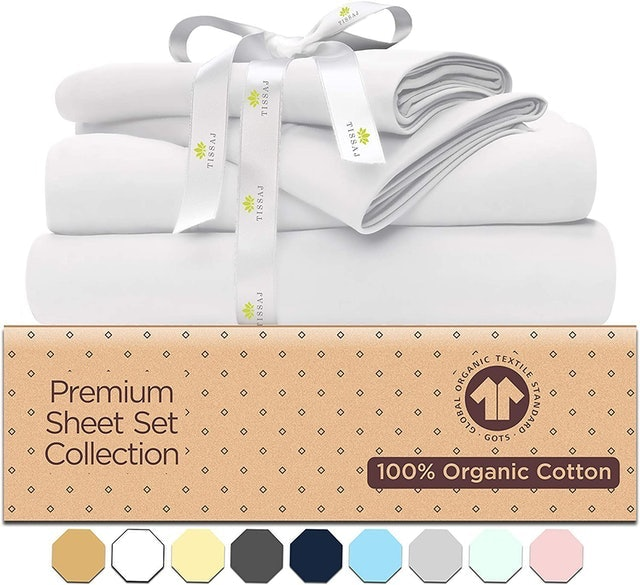 Tissaj 500 Thread Count Cotton Bed Sheet Set  1