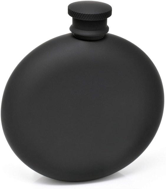 Hip Flasks Idalio Hip Flask for Liquor Matte Black 1