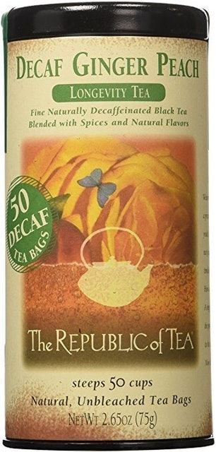 The Republic of Tea Decaf Ginger Peach Black Tea 1
