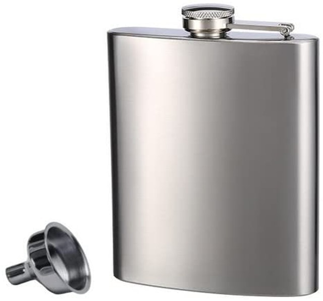 Hip Flasks Top Shelf Stainless Steel Flask and Funnel 1