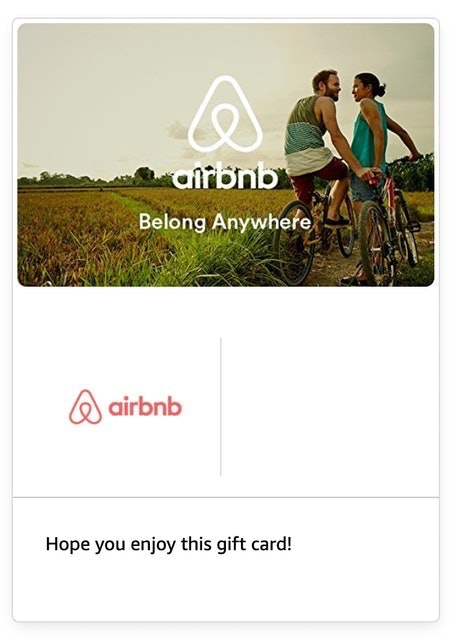Airbnb Gift Card 1