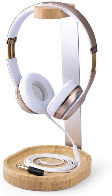 Avantree Universal Wooden & Aluminum Headphone Stand 1