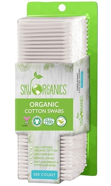 Sky Organics Organic Cotton Swabs 1