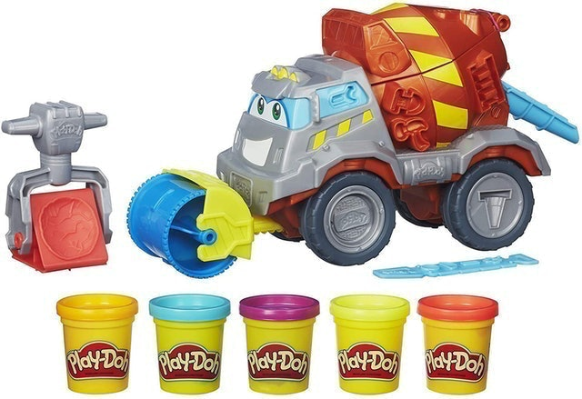 Play-Doh Max The Cement Mixer Toy Construction Truck 1