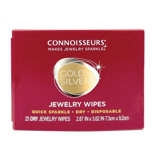 Connoisseurs Gold + Silver Jewelry Wipes 1