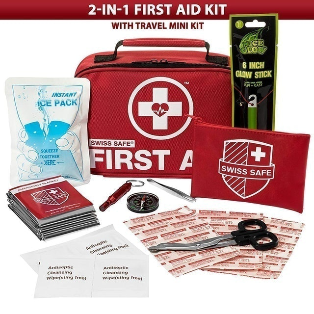 Swiss Safe 2-in-1 First Aid Kit 1
