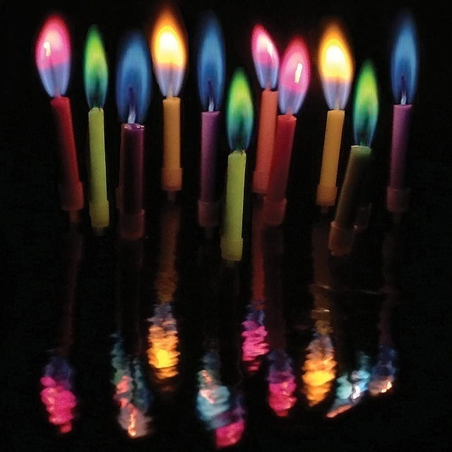 Colorflame Multicolor Candles and Holders 1