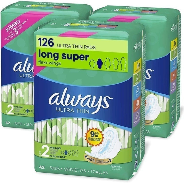 Always Ultra Thin Feminine Pads With Wings  1