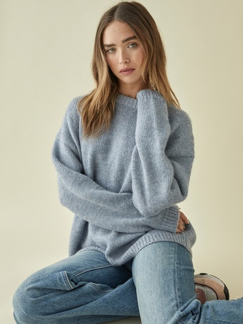 Reformation Jour Oversized Crew Sweater 1