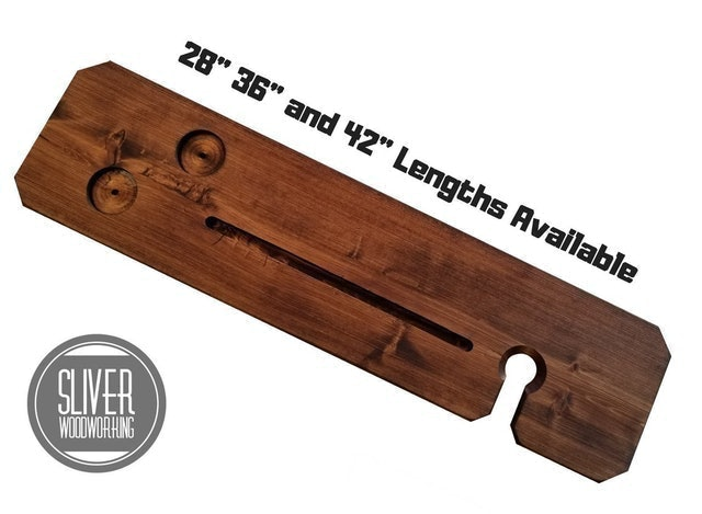 SliverWoodworking Stained Bathtub Tray 1