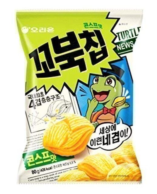 Orion Turtle Chips Corn Soup Flavor 1