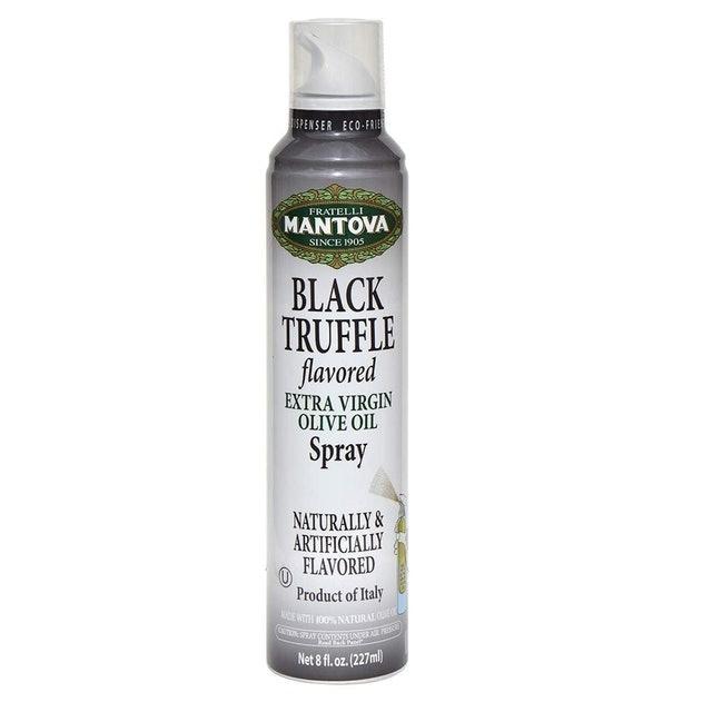 Fratelli Mantova Black Truffle Flavored Extra Virgin Olive Oil Spray 1