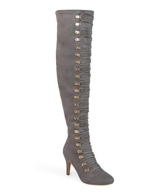 Journee Collection Trill Wide Calf Thigh High Boot 1