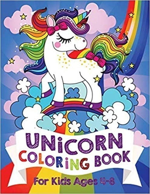 Silly Bear Unicorn Coloring Book 1
