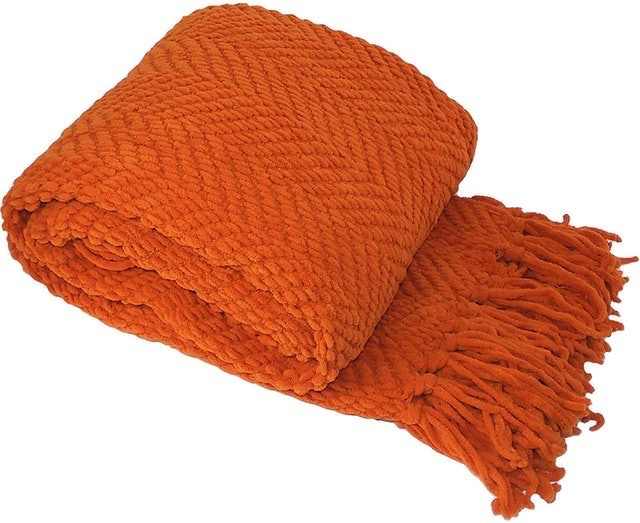 Fall Decorations Home Soft Things Knitted Tweed Throw Couch Cover Blanket 1