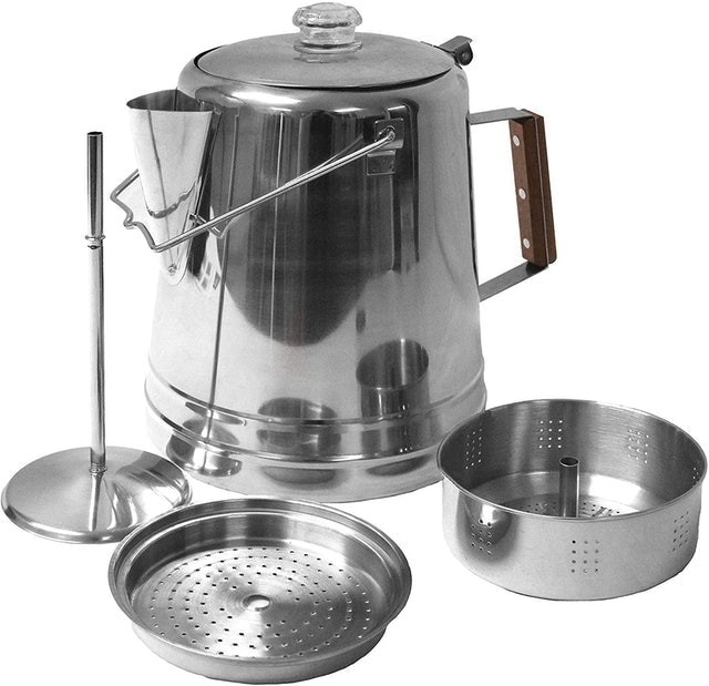 Texsport Stainless Steel Coffee Pot Percolator for Outdoor Camping  1