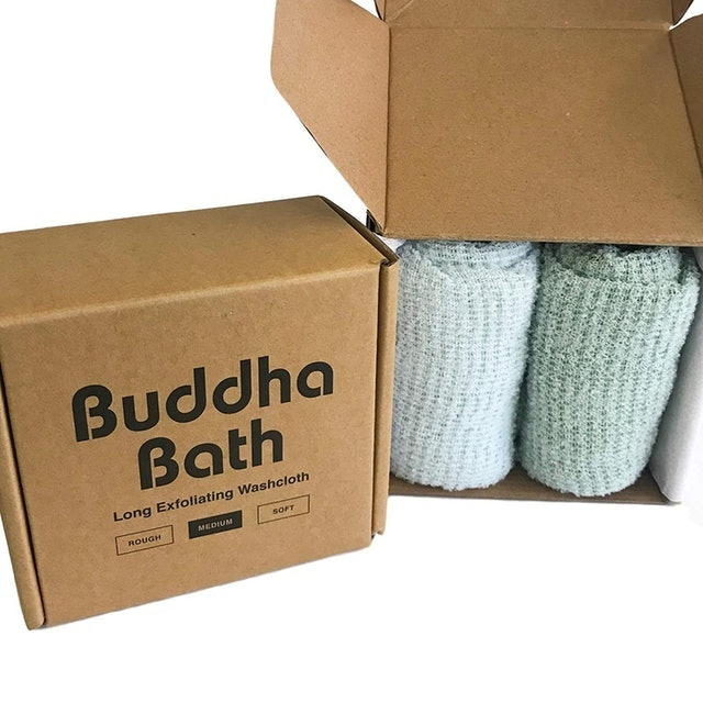 Buddha Bath  Long Exfoliating Washcloth 1