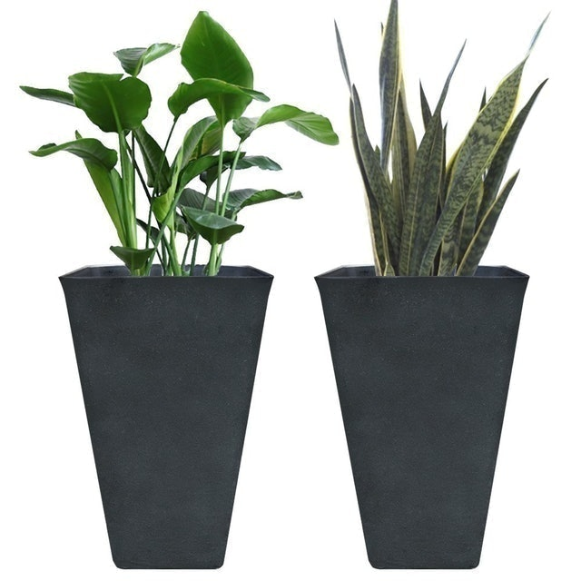 La Jolie Muse Tall Resin Planters 1