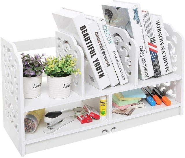 MyGift Freestanding Book Case 1
