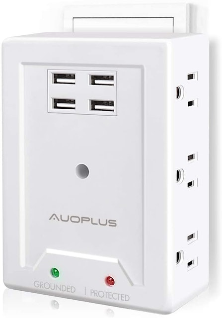 Auoplus Multi Outlet Wall Adapter 1