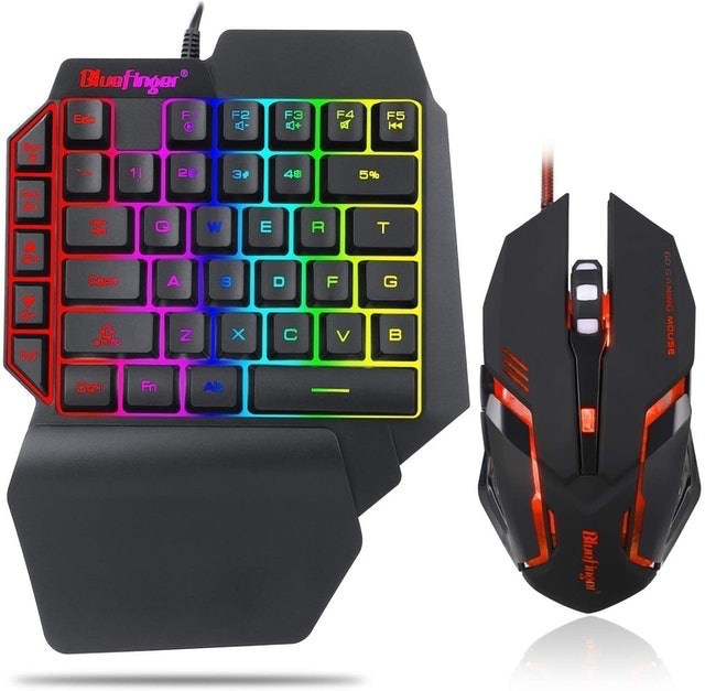 BlueFinger Gaming Keyboard and Backlit Mouse Combo 1