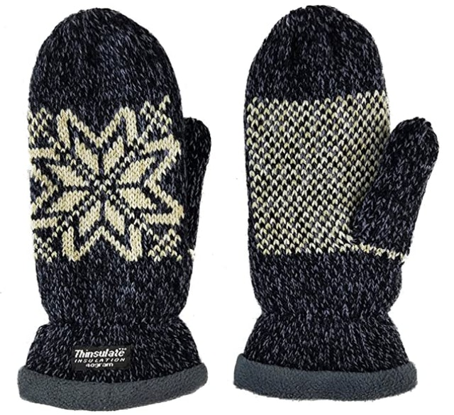 Bruceriver Snowflake Knit Mittens 1