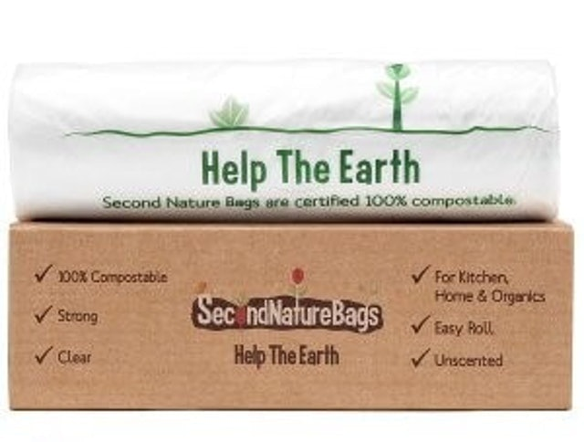 Second Nature Bags  Help the Earth Compostable Trash Bags 1