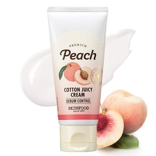Skin Food Premium Peach Cotton Juicy Cream  1