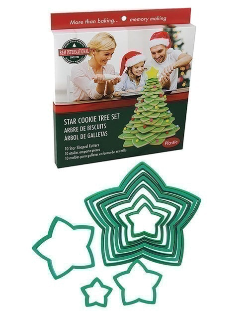 R&M International Star Tree Cookie Cutters 1