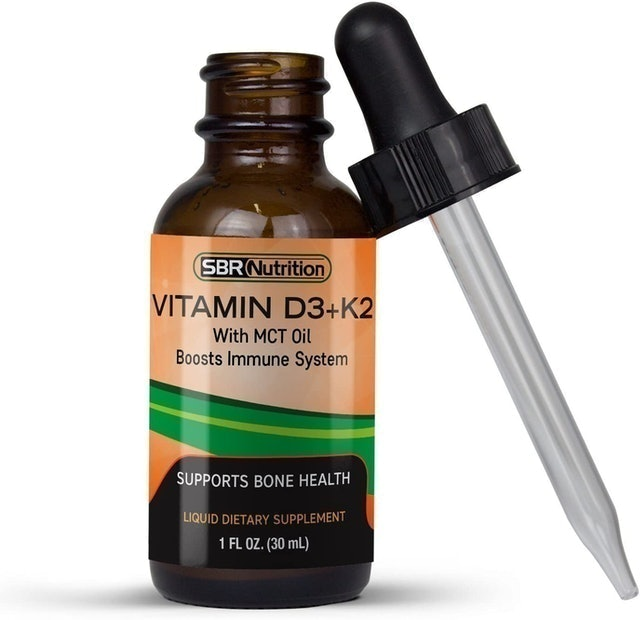 SBR Nutrition Vitamin D3 and K2 with MCT Oil 1