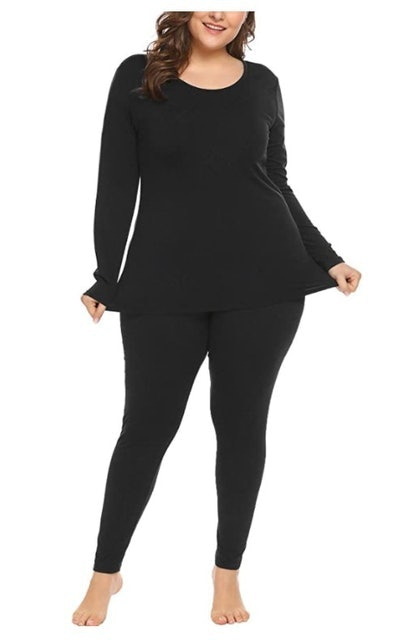 In'voland  Women's Plus Size Thermal Long Johns Set 1