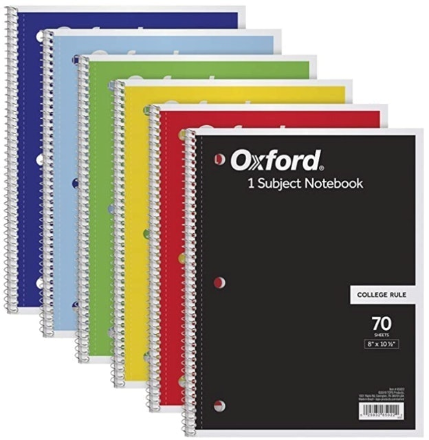 Oxford 1-Subject Notebooks 1