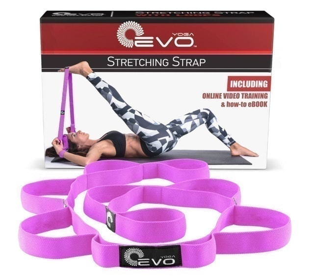 Yoga EVO Strap for Stretching With 10 Loops 1