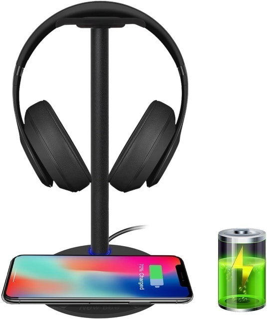 New Bee Fast Wireless Charging With Headphone Stand 1