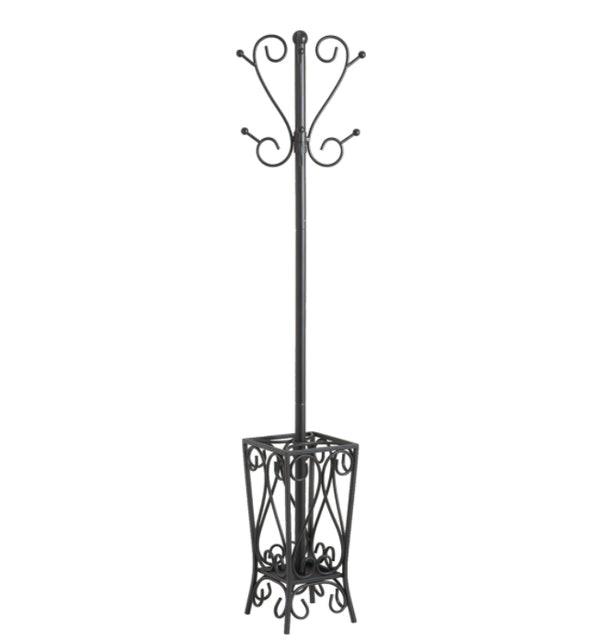SEI Furniture Metal Scrolled Coat Rack and Umbrella Stand 1