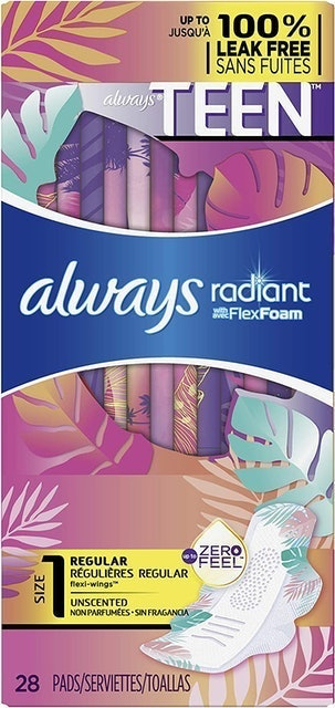 Always Totally Teen Radiant Infinity Pads 1
