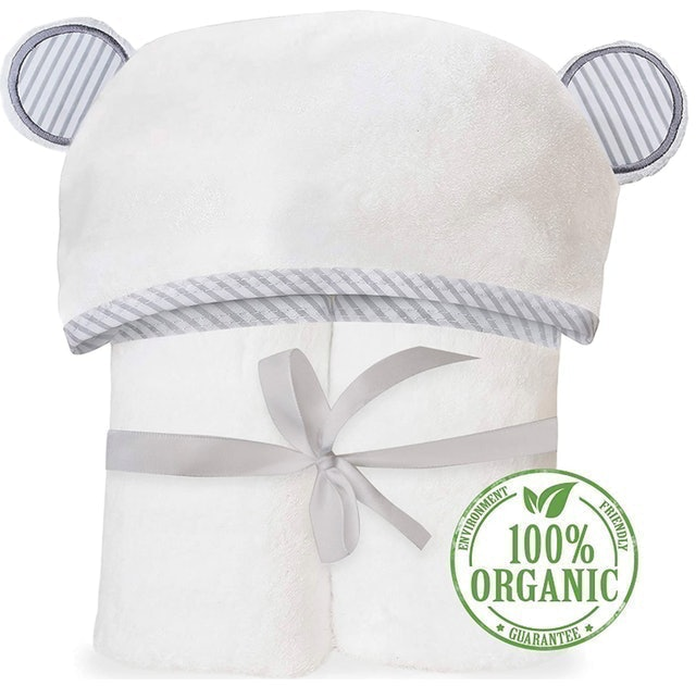 San Francisco Baby Organic Bamboo Hooded Baby Towel 1