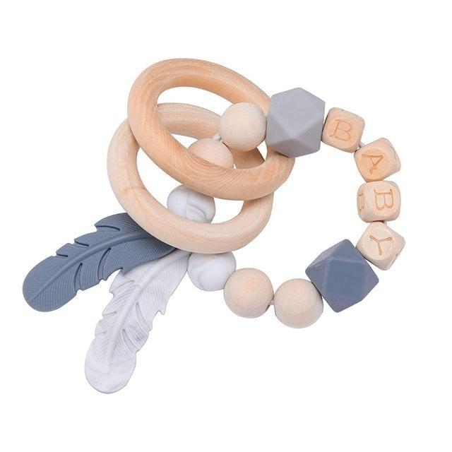 bopoobo Baby Teething Rattle Bracelet 1