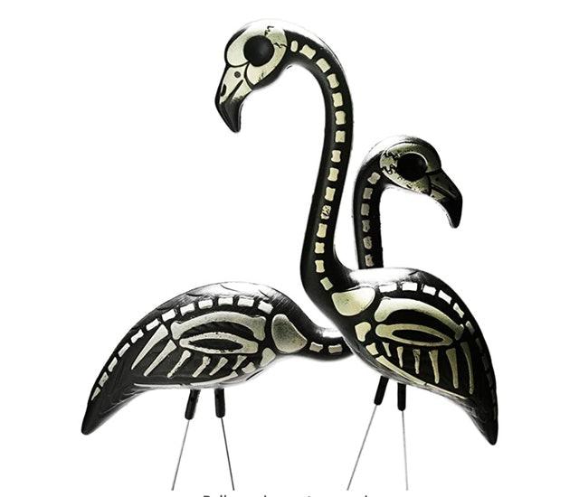 Pink Inc. Skeleton Flamingos Lawn Decor 1