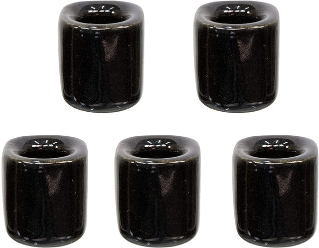 Clarity & Muse 5-Piece Ceramic Chime Candle Holder Set 1
