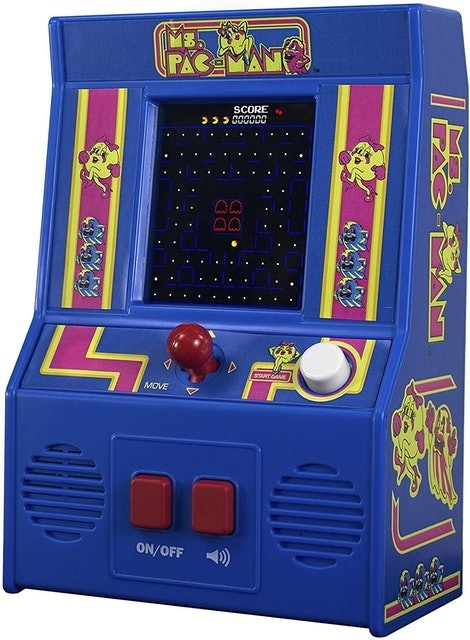 Stocking Stuffers Basic Fun Ms. Pac-Man Retro Mini Arcade Game 1