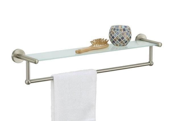 Organize It All  Towel Rack with Shelf 1