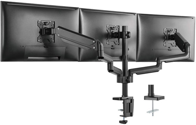 WALI Triple Arm Monitor Desk Mount 1