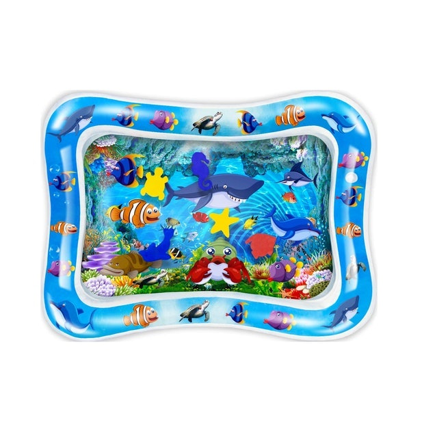 CUKU Tummy Time Water Play Mat 1