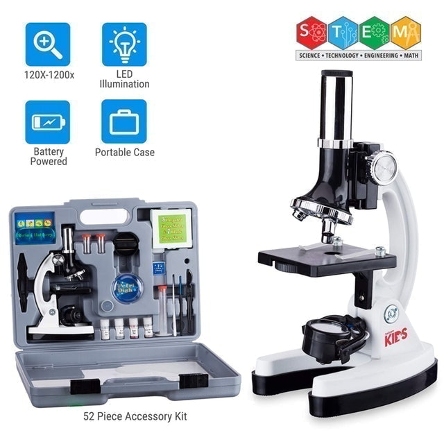 AmScope 52-pcs Kids Beginner Microscope 1