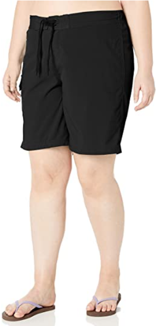 Kanu Women's Plus Size Marina Solid Stretch Boardshort 1