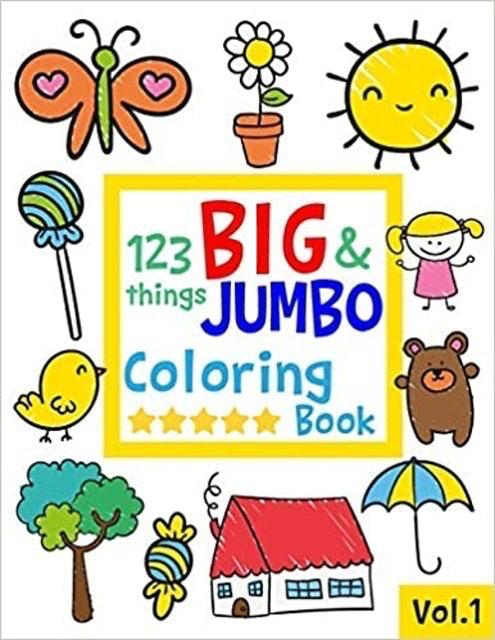 Salmon Sally 123 Things Big and Jumbo Coloring Book 1