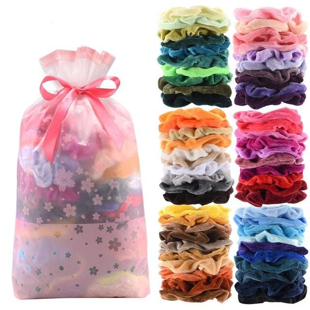 Seven Style Premium Velvet Hair Scrunchies 1