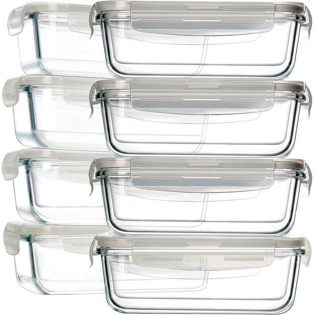 Bayco 16-Piece Glass Food Storage Containers 1