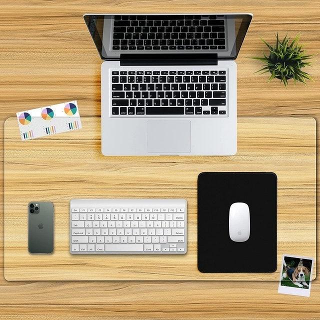 Awnour Clear Desk Pad Mat Blotter 1